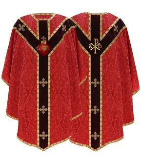 """Semi Gothic Chasuble """"Heart of Jesus"""" GY829-AC26"""