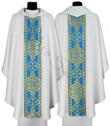 Chasuble gothique mariale  013-BN