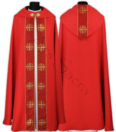 """Capa pluvial gótica """"Cruces de Jerusalén"""" K103-C"""